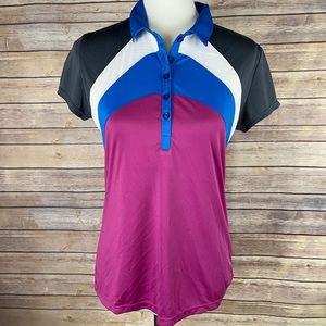 Callaway Womens Opti Dri Medium Golf Shirt Collar